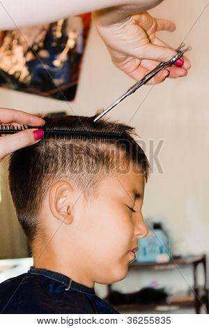 Haircut In A Hair Studio