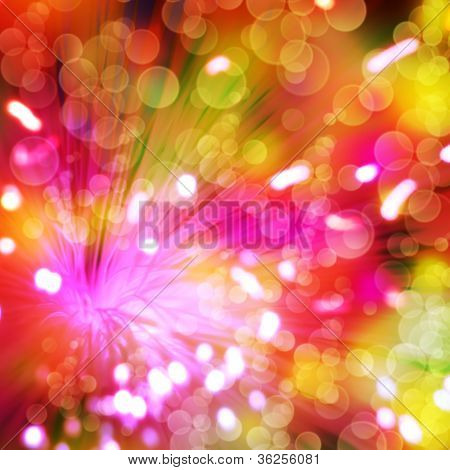 Abstract Color Backgrounds With Glowing Lines And Bokeh