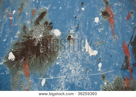 Rusted blue grunge background