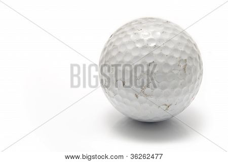 Old Used Golf Ball