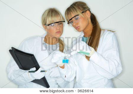 Female In Lab
