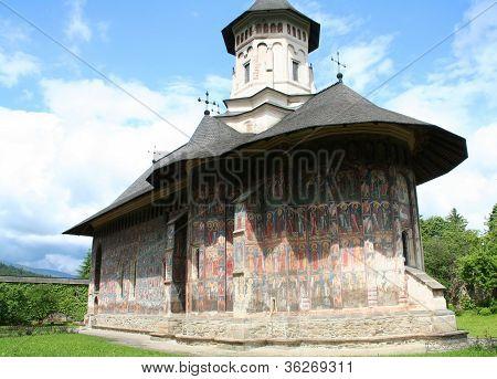 Moldovita painted church, Romania