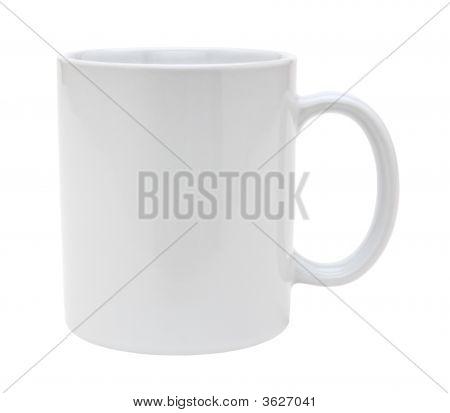 weiße Tasse Ausschnitt