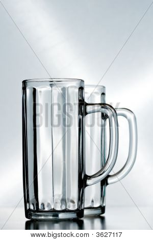 Two Empty Beer Glasses