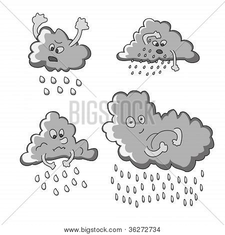 Funny Rainy Clouds