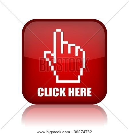 Click here vector button