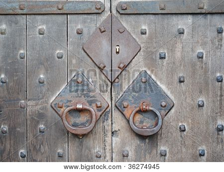 Close-up of Castle Doors, Cardiff