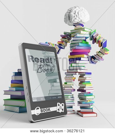 E-book And A Book Man