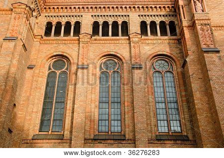 Detail Of The Side Windows Of The St. Thomas-kirche In Marianenplatz, Berlin Germany