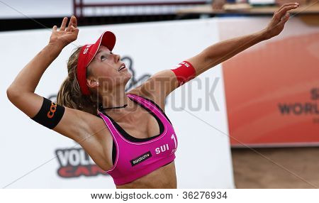 Beach Volleyball Woman Switzerland Hit