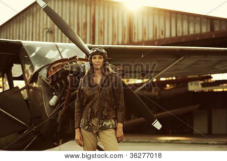 Vintage Airplane Pilot