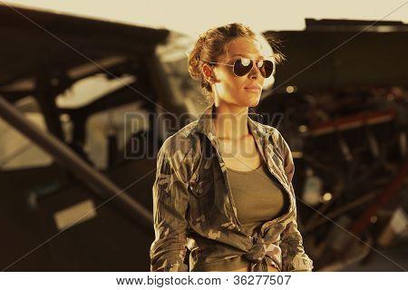 Woman Airplane Aviator