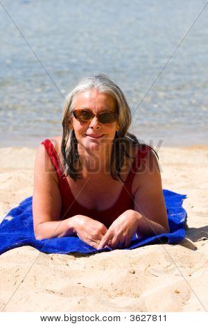 Woman On Beach