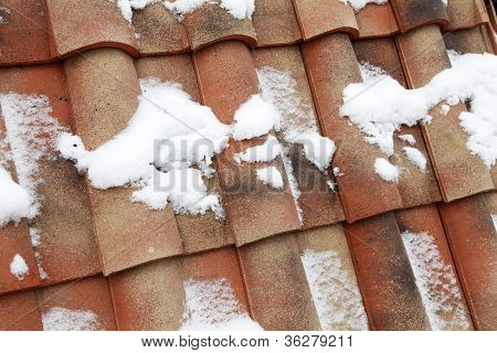 Tile Roof Of Red Color