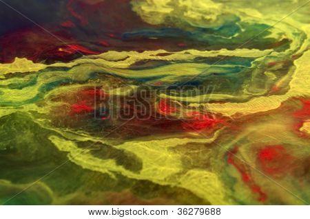 Cores vibrantes de flutuação