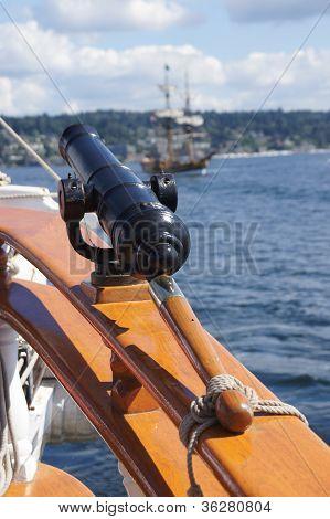 Swivel Gun On Deck