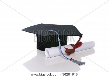 Graduation Cap And Scroll