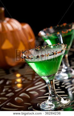 Halloween Drinks - Witch Blood Martini