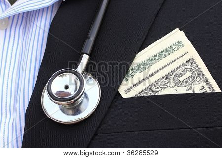 Dollars Bills In His Pocket