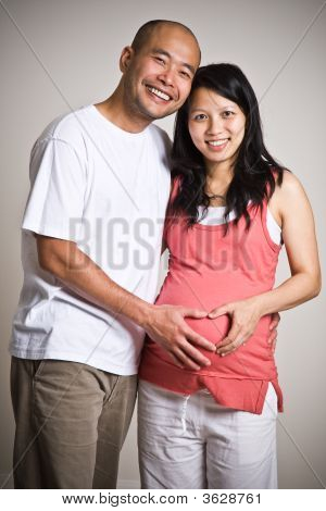 Pregnant Asian Couple