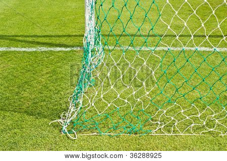 The Football Field (soccer) With A Mesh Football Field