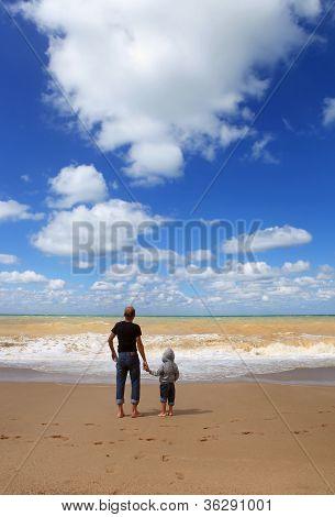 Sunny Day At The Sea Coast