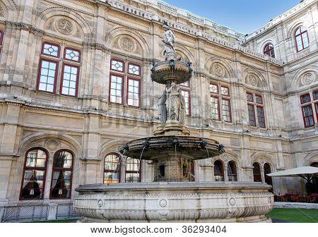 A casa de ópera de Viena em Viena, Áustria