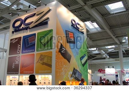 Hannover - March 10: Stand Of Ocz Technology On March 10, 2012 At Cebi