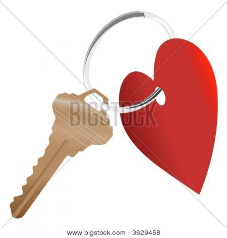 Love The Home_Heart House Key Shiny Ring