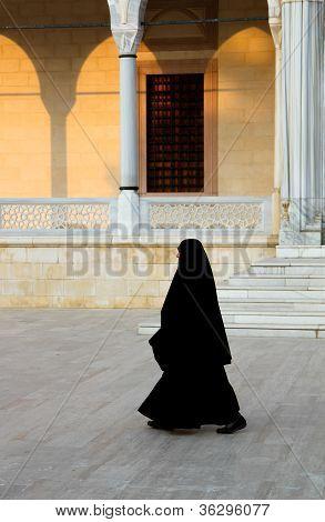 Muslim Walking Woman