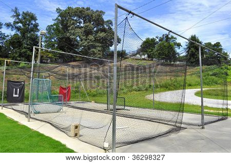 Pitching And Batting Practice Cage