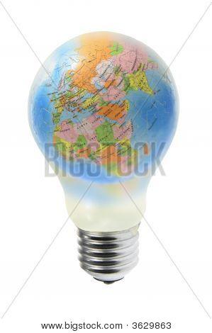 Globe In Tungsten Light Bulb