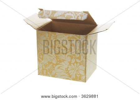 Paper Box With Decorative Floral Pattern