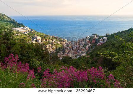 Manarola valley view, Cinque Terre, Italy