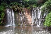 stock photo of emei  - Waterfall on the basement of mount Emei China - JPG