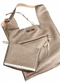 Gold Brown Soft Leather Woman's Bag