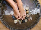 pic of foot massage  - foot treatment - JPG
