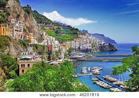 reizen in Italië serie - weergave van prachtige Amalfi
