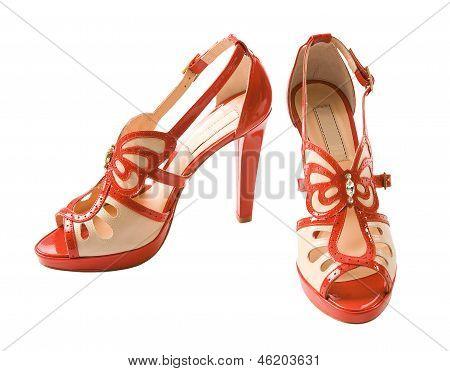 Butterfly Diamond Leather Stilettos