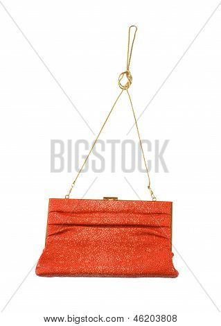 Orange Stingray Leather Clutch