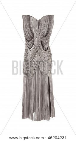 Gorgeous Elegant Grey Fringed Dress