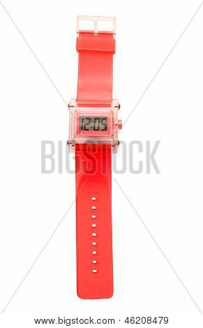 Red Simple Translucent Silicone Watch