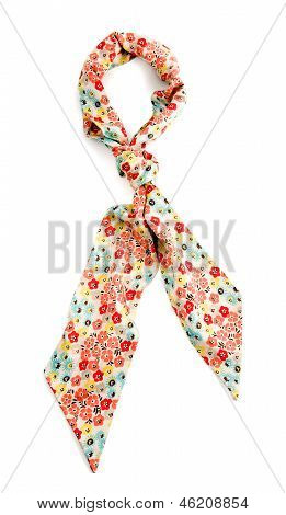 Flowery White Neckerchief