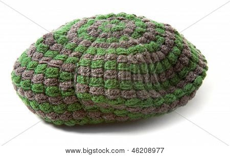 Green And Grey Knit Beanie