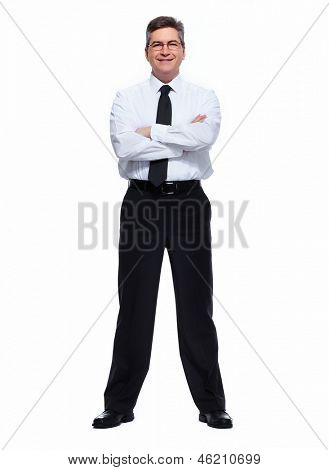 Portrait of handsome Businessman isolated on white background.