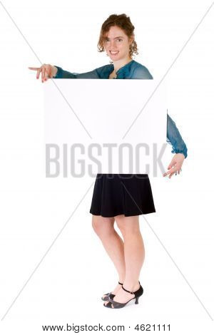 Woman Presenting Billboard