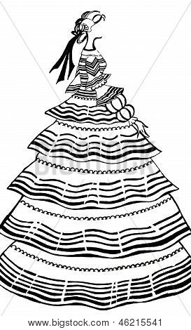 Women Party Dress With Crinoline