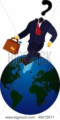 Globe Trotting Business Man