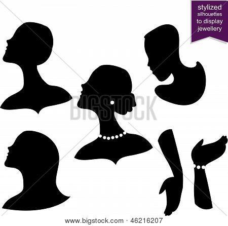 Stylized Silhouettes To Display Jewelry