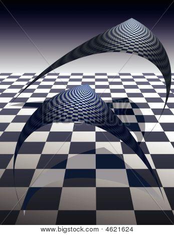 Checker Board Creatures - Vector Illustrations